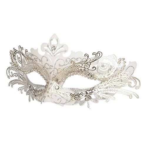 Hoshin Maskerade Maske, Karneval Dekorationen Venezianische Masken für Frauen (Weiß)