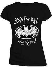 Batman - My Hero! Femmes T-Shirt - Noir