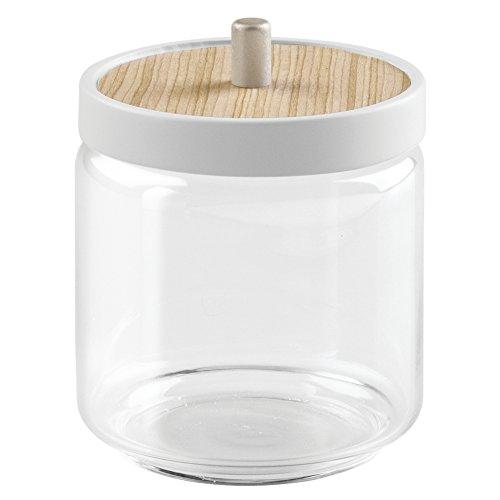 interdesign-90560eu-realwood-pot-pour-boules-de-coton-verre-bois-blanc-869-x-869-x-113-cm