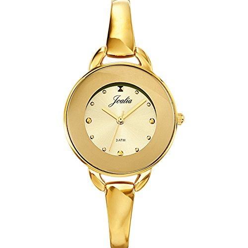 Certus - Reloj de cuarzo para mujer, correa de metal color dorado