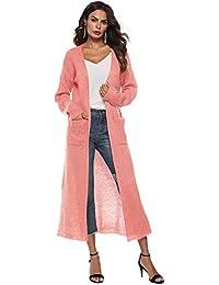 9e03ce876b9bc2 Cappotto Donna Cardigan Cardigan Casual Manica Lunga Outwear Cappotto  Lavorato a Maglia Felpa Jacket Pullover Manica