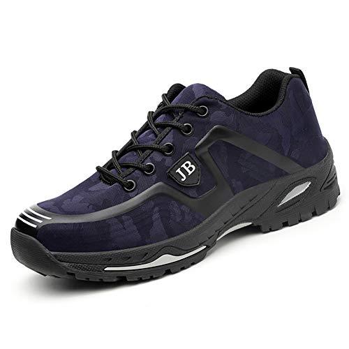 Scarpe da Lavoro Uomo Donna Scarpe Antinfortunistica con Punta in Acciaio Scarpe Sportive di Sicurezza Unisex Blu Marino 36