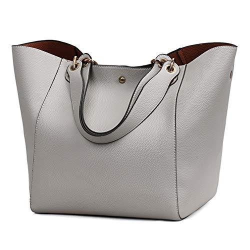 be3a5555daeec Pahajim Frauen Leder Top Griff Handtaschen Schulranzen Handtasche Messenger  Pack Tasche Dunkelblau Geldbörsen und Handtaschen auf