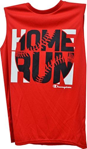 Baseball Graphic-Print Muskel T-Shirt, gro?e Jungen Jugend gro? (Champion Muskel-shirt)