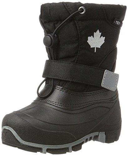 Kleine Mädchen-schnee-stiefel (Canadians Unisex-Kinder 467 185 Schneestiefel, Schwarz (Black), 36 EU)