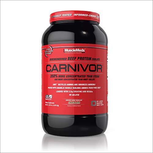 SPORTS NUTRITION SOURCE Musclemeds Carnivor Rindfleisch Eiweiß Isolat Pulver, schokolade, 28 portionen, 360 g -