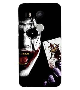 ColourCraft Scary Joker Design Back Case Cover for LG GOOGLE NEXUS 5X