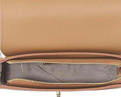 Laura Moretti - Borsa in pelle con chiusura a lembo Leather