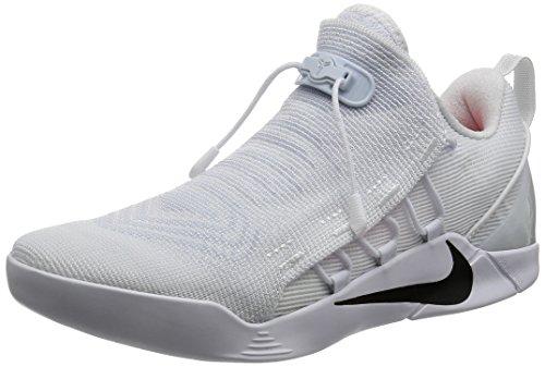 Nike Mens Kobe A.D. NXT Basketball Shoes White/Black 882049-100 Size 12
