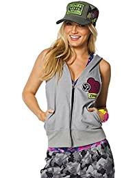 Zumba Fitness Damen WT Outerwear Patched Up Sleeveless Hoodie