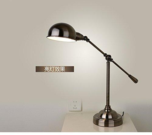Yff@ilu elevato livello di antiquariato in ferro battuto lampada da tavolo