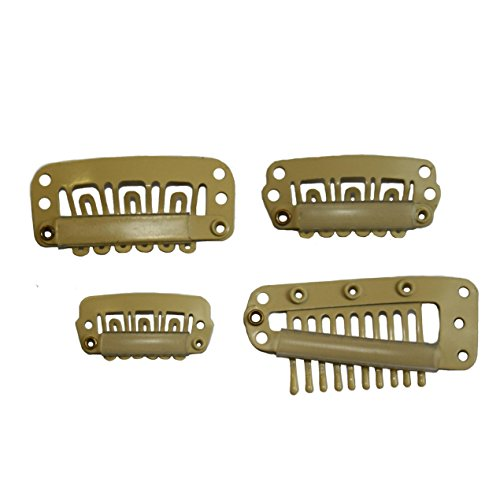 10/15/20//50 pcs Snap Pinces à cheveux pour extensions de cheveux Trame Perruque 24/28/32/38 mm