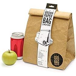Luckies of London LUD9W Lunch Bag - Borsa termica riutilizzabile, impermeabile e a prova di strappo - Marrone