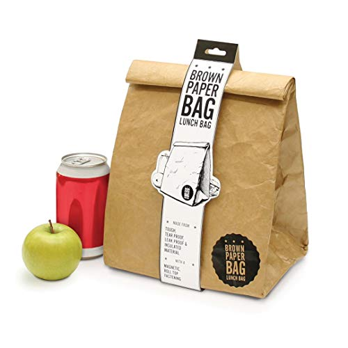 Luckies of london lud9w lunch bag - borsa termica riutilizzabile, impermeabile e a prova di strappo - marrone