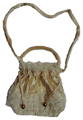 Rüschenbeutel Chloe Tasche Old Style Western bordeaux schwarz beige Spitze (beige) (Spitzen-tasche)