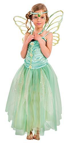 Fee Danae Kostüm für Mädchen 3-TLG. - Grün - Gr. 116
