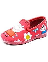 Footwear Studio - Zapatillas de estar por casa para niña, color Rojo, talla 27 EU