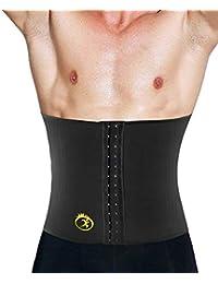 TINGSU Hombres Cinturón de Adelgazamiento Caliente Entrenador de Cintura Neopreno Body Shaper Entrenamiento Sauna Traje Control