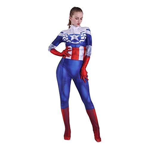 Anime Kostüm Cosplay Strumpfhosen Kleidung Captain America Weihnachten/Halloween Maskerade Kostüm Erwachsene/Kinder-M,BlueChild-XXL ()