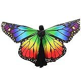 WOZOW Damen Kostümzubehör Zubehör Schmetterling Flügel Kostüm Nymphe Pixie Umhang Faschingkostüme Schals Poncho (Mehrfarbig 1)