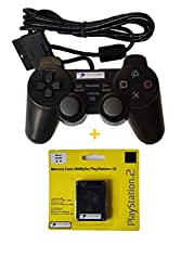 Digital Gaming World PlayStation 2 Wired Controller With 8MB Memory Card (Combo Deal)