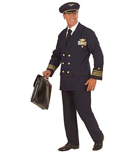Pilot Kapitän Kostüm Herren - WIDMANN Kostüm Karneval Herren Anzug Pilot von Flugzeugen * 22889, Mehrfarbig XXL