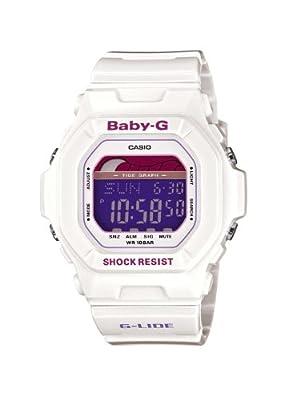 Casio Baby-G BLX-5600-7ER correa de resina color blanco (alarma, cronómetro, luz)