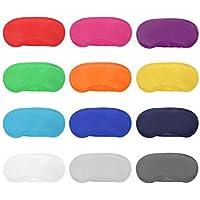 Lvcky 12Stück Multicolor Augen Maske Abdeckung leicht Augenbinde Schlafmaske mit Nase Pad und Elastische Gurte... preisvergleich bei billige-tabletten.eu