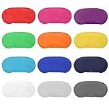 Lvcky 12 Stück mehrfarbige Augenmaske, leicht, Augenbinde, Schlafmaske mit Nasenpolster und Gummibändern für Kinder, Damen, Herren, 12 Farben