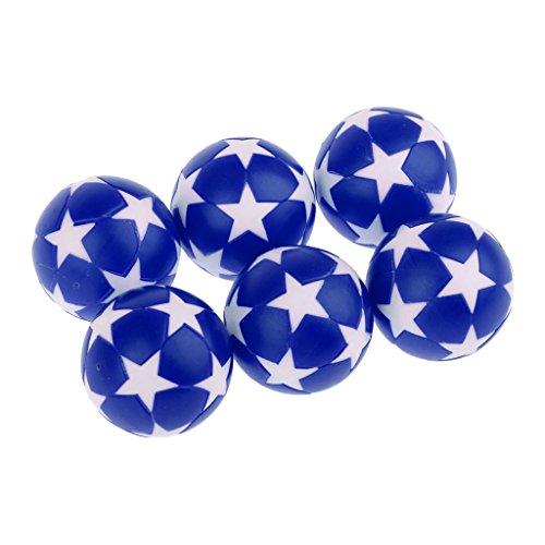 Unbekannt Tischfußbälle, 6 Stück Standard-Fußballtische und Klassische Tischfußball-Bälle, blau (Classic Tischkicker Sport)