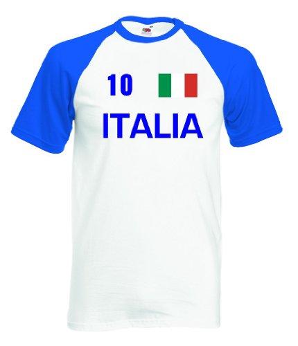 Italia / Italien Herren T-Shirt Baseball Trikot Nr.10|XL (Baseball Trikot Italien)