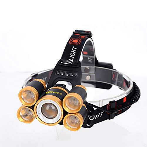 YYLE 5 * LED XML T6 Faro 20000 Lumen 4mode Zoomable Lampada Frontale Ricaricabile Lampada Torcia + 2 * 18650 Batteria + Caricabatterie AC/DC