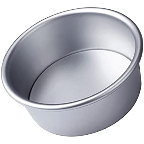 Mikey Store 4/6/8'' Aluminum Alloy Non-stick Round Cake Baking Mould Pan Bakeware Tool SAP (6) by Mikey Store Home