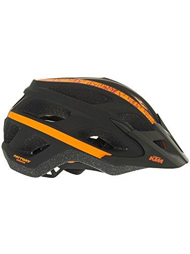 Preisvergleich Produktbild KTM MTB Helm - Fahrradhelm mit Visier - Orange Schwarz - Gr. 54-58