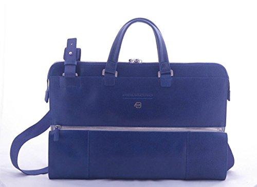Piquadro CA4025S92/BLU Mamore' Cartella, 42 cm, Blu