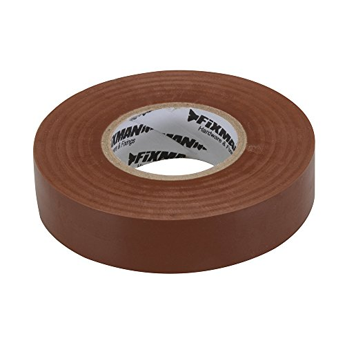 fixman-187738-insulation-tape-19-mm-x-33-m-brown