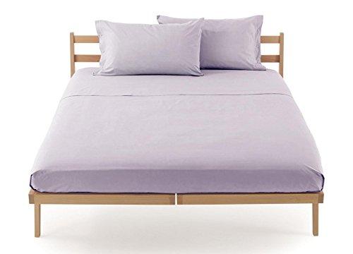Lenzuolo sotto con angoli zucchi clic clac percalle di puro cotone letto matrimoniale 2 due piazze cm 175 x 200 100% made in italy (perla - 1707)