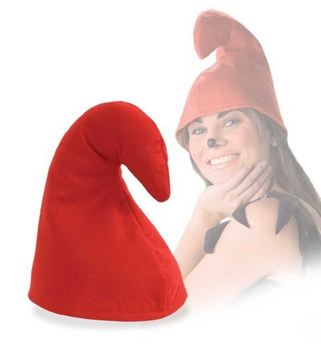 FASCHING 38565 Mütze Mupfi rot Zwerg Schlumpf Hut (Hut Schlumpf Erwachsene)