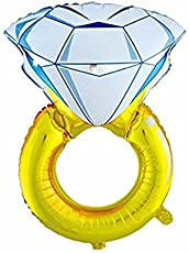 Crazy Sutra Engagement Ring Balloon -Pack Of 1 , Wedding Rings Foil Balloons (XLarge) (Romantic Wedding, Bridal Shower, Anniversary,Vow Renewal, Engagement Party)