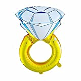 #5: Crazy Sutra Engagement Ring Balloon -Pack Of 1 , Wedding Rings Foil Balloons (XL) (Romantic Wedding, Bridal Shower, Anniversary,Vow Renewal, Engagement Party)