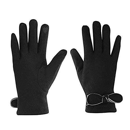 en Frauen Fingerhandschuhe Plüsch Winter Herbst touchscreen iPad iPhone Smartphone Winterhandschuhe warm weich Strickhandschuhe Elegant Damenhandschuhe Camping Outdoor Fahrrad ()