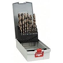 Bosch 2608587018 HSS-CO Metal Drill Bit Cassettes,25 Pieces, 1-13 mm