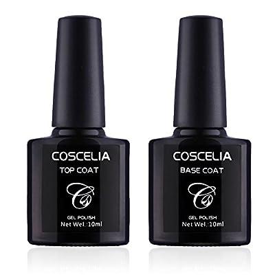 Coscelia Gel Nail Polish Set Soak Off UV LED Nail Varnish Starter Kit Manicure Nail Lacquer Gel Colors Gift Set 8pcs (Base&Top Coat set)