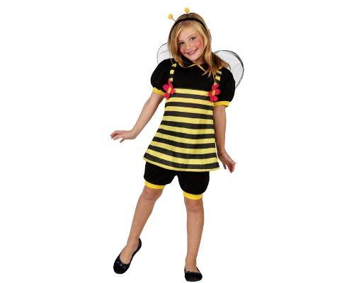 (ATOSA 23899 - Biene Mädchen Kostüm, Größe 116, schwarz/gelb)