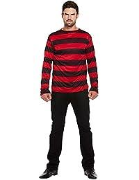 Kostüm Gestreifter Pullover (Schwarz/Rot)