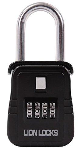 Lion Locks 1500 Key Storage Lock Box with Set Your Own Combination, Black by Lion Locks -