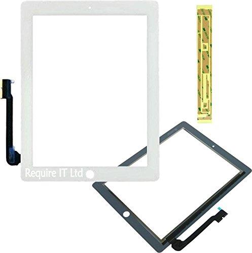 REQIT New Ersatz Glas Digitizer für Ipad 4weiß 16GB A1459-md519lla/A + Klebeband (Ersatz-bildschirm Gb Ipad 16)