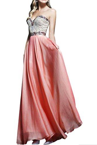 ivyd ressing–Cœur de la découpe strass a ligne fixe Vêtements Prom robe robe du soir Rose