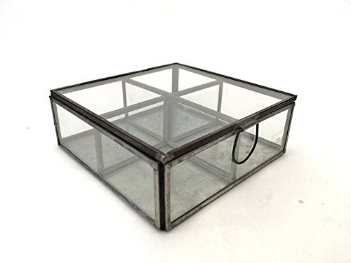 Teebox aus Glas: Glasteebeutelbox mit Seltenheitswert im Art déco Stil