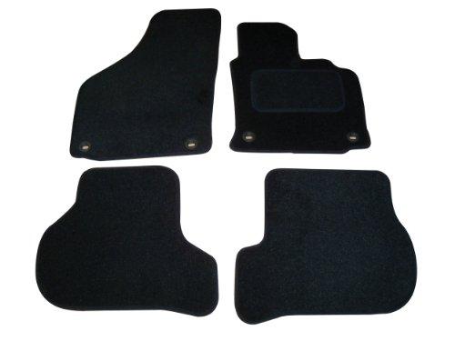 Sakura Fußmatten in Schwarz für  Golf 5 mit Oval Clips (Passend für 2004 bis 2007 Modelle)